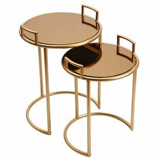 Kip Decorative Round 2 Piece Nesting Tables by Mercer41