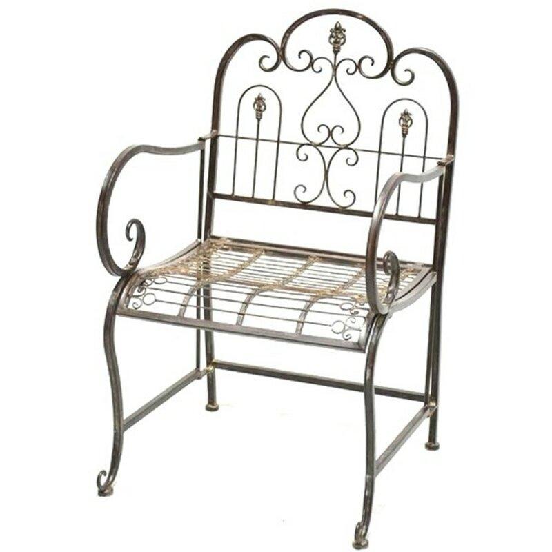 Excellent Provence Metal Folding Garden Bench Seat Cushion Not Theyellowbook Wood Chair Design Ideas Theyellowbookinfo