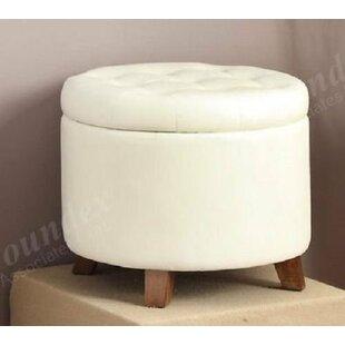 Ebern Designs Hassen Accent Cute Round Footstool Pouf Tufted Storage Ottoman