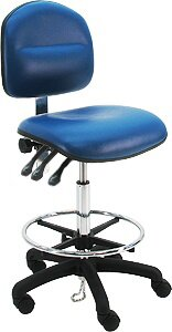 Symple Stuff Eco-Friendly Cleanroom Lab Upholstered Swivel Drafting Chair