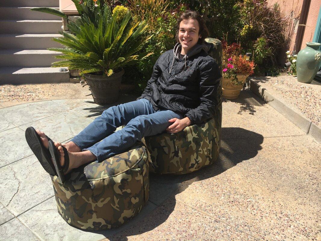 Aurore Large Durable Camo Bean Bag Chair For Freeport Park