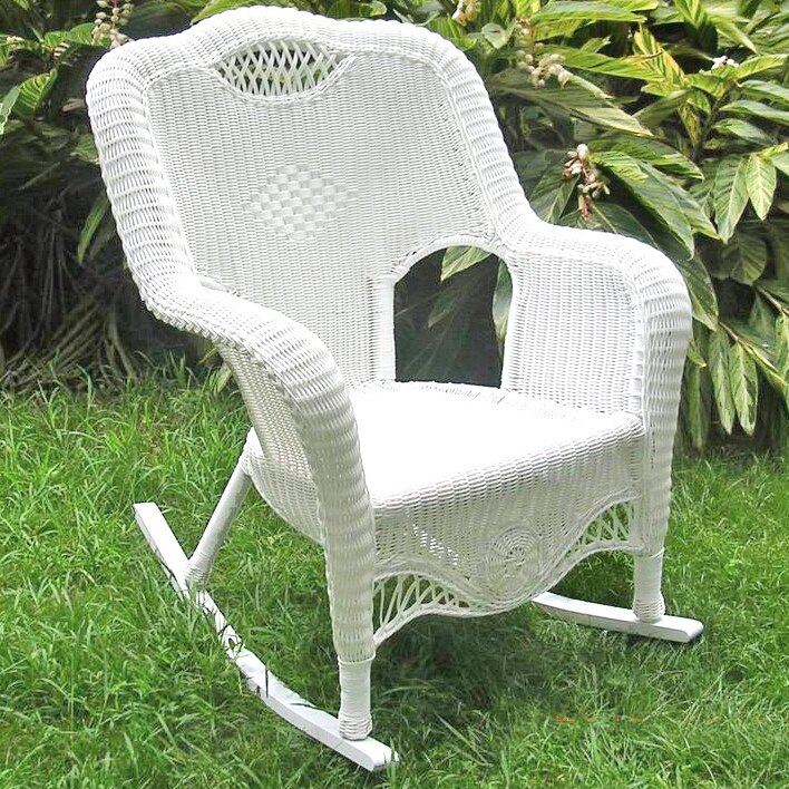 riviera wicker resin aluminum large patio rocking chair