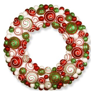 20 ornament wreath by the holiday aisle