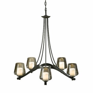 Hubbardton Forge Ribbon 5-Light Shaded Chandelier