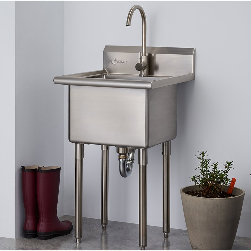 Free Standing Laundry Sink With Faucet
