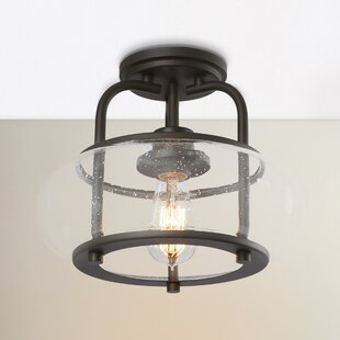 Beachcrest Home Braxton 1-Light Semi Flush Mount