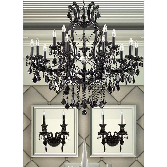 Keeler 3 Piece Candle Style Chandelier And Wall Sconce Set