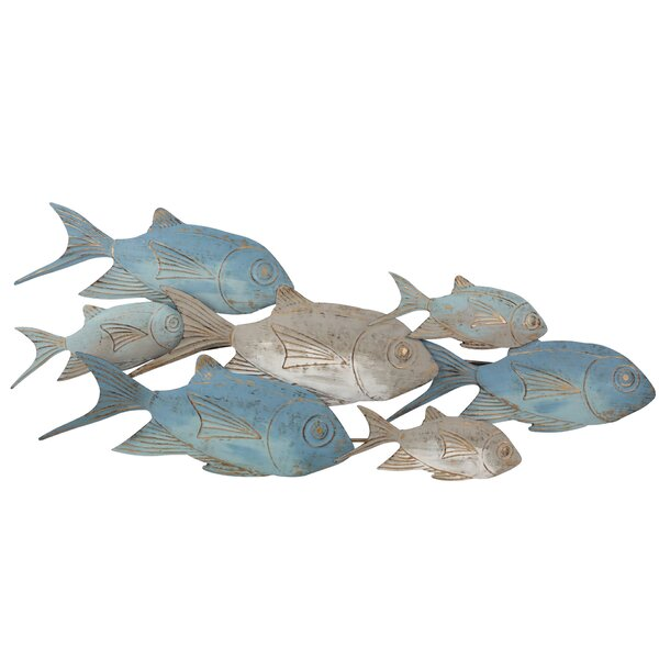 Metal Fish Wall Sculpture Wayfair