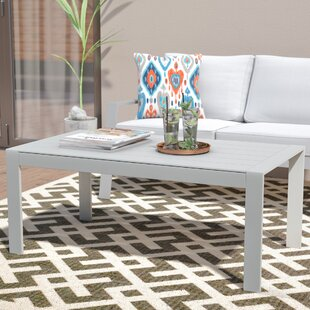 Reynosa Contemporary Aluminum Coffee Table