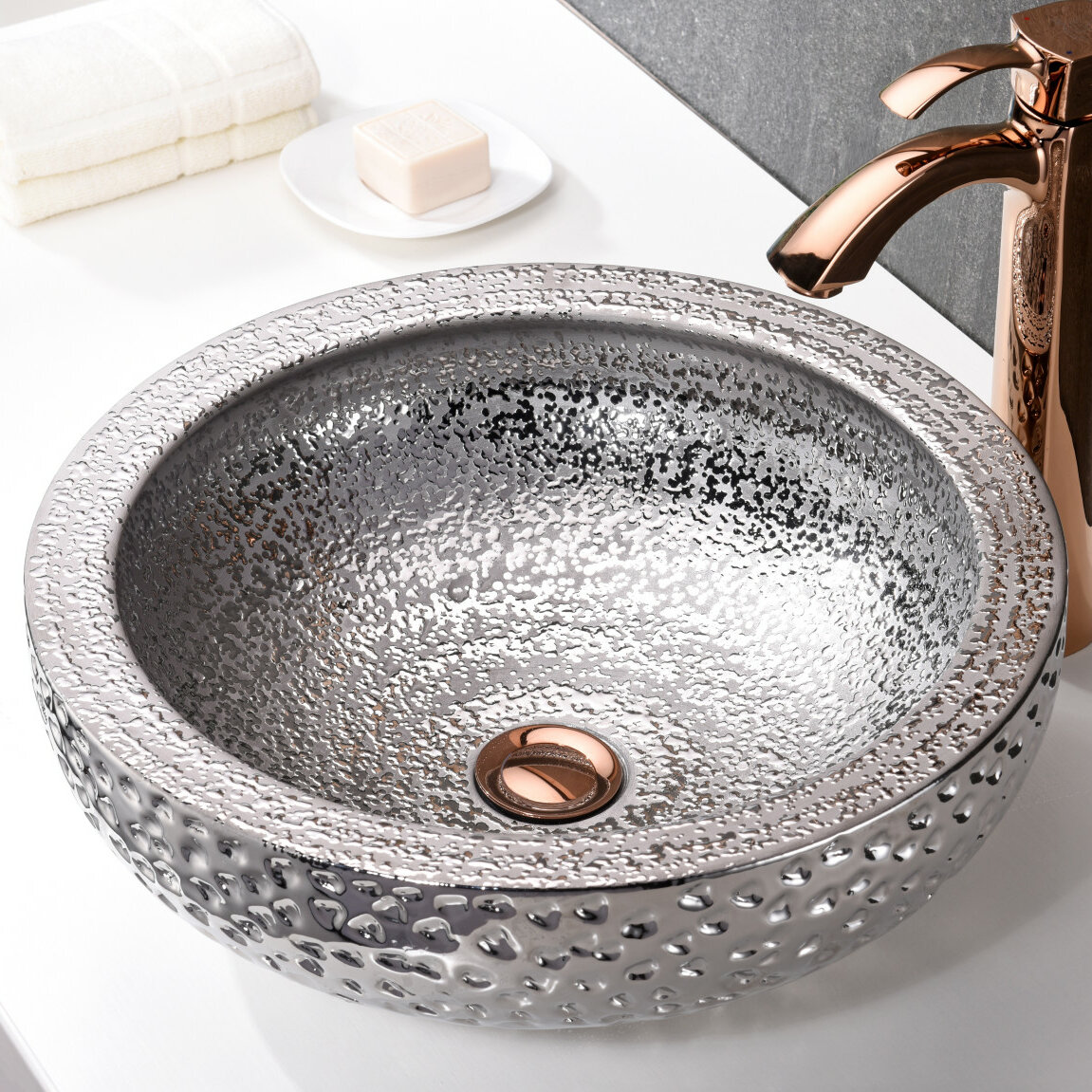 Anzzi Regalia Glass Circular Vessel Bathroom Sink Reviews Wayfair