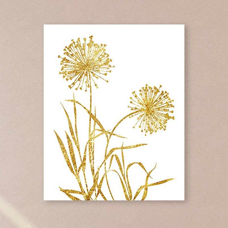 Preferred PTM Images Dandelion Framed Graphic Art on Wrapped Canvas | Wayfair UW08