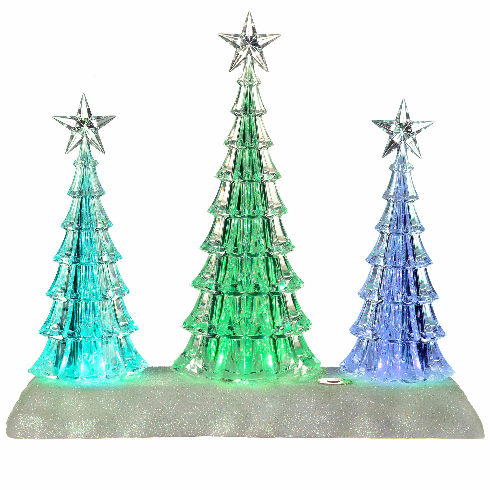 The Seasonal Aisle Acrylic Pre-Lit Colour-Changing LED Musical ...