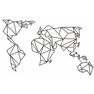 World map wayfair world map geometric metal wall dcor gumiabroncs Choice Image