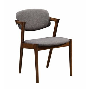 Durrah Wooden Upholstered Dining Chair (Set of 2)
