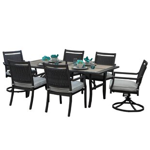 Red Barrel Studio Dreher 7 Piece Sunbrella Dining Set with Cushions