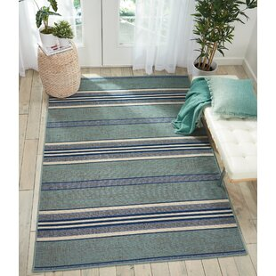 Lido Aqua Blue Indoor/Outdoor Area Rug