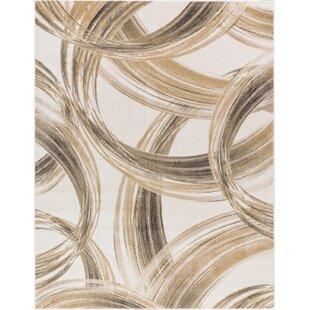 Devanna Modern Scrolls Ivory Area Rug ByEbern Designs