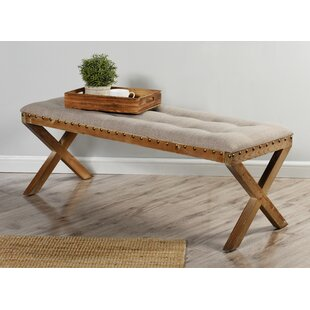 Gracie Oaks Isaiah Cushion Top Wood Bench