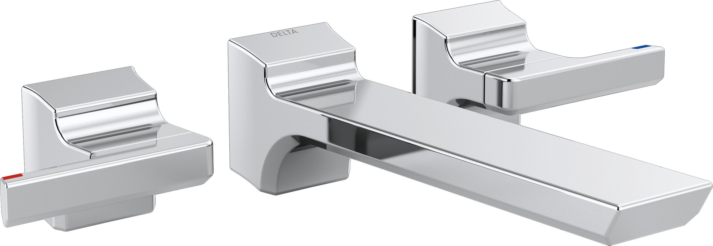 Delta Pivotal Double Handle Wall Mounted Tub only Faucet Trim ...