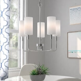 Burger 5-Light Shaded Chandelier by Latitude Run