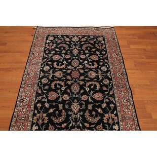 Shop For One-of-a-Kind Eben Traditional Persian Hand-Knotted 4' x 6' Wool Black/Pink/Ivory Area Rug By Isabelline