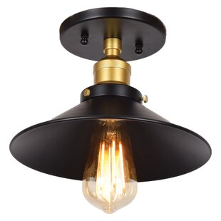 Find Gehlert Retro 1-Light Semi Flush Mount By Wrought Studio