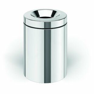 AGM Home Store Round Top Stainless Steel Open Waste Basket