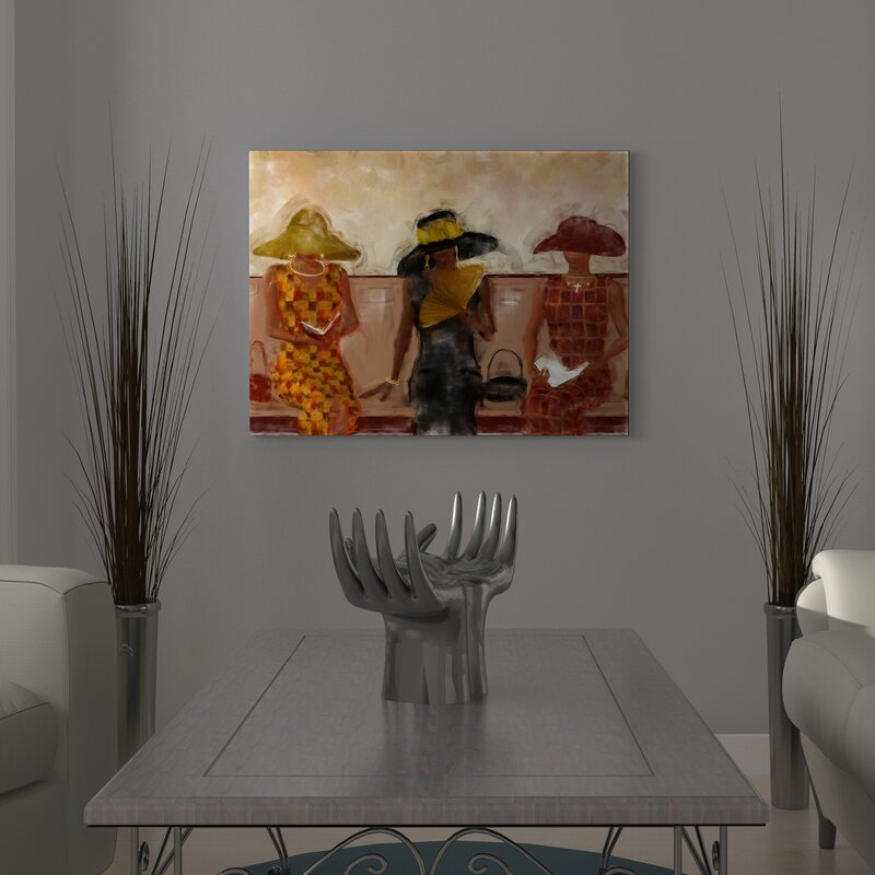 cf0f0053c59  Women in Church Religious African American  Graphic Art Print on Canvas.