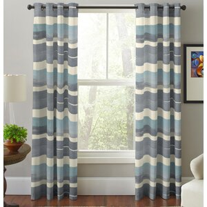 Sky Striped Curtain Panels (Set of 2)