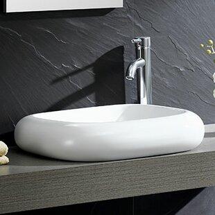 Fine Fixtures Modern Ceramic Square Vessel Bathroom Sink