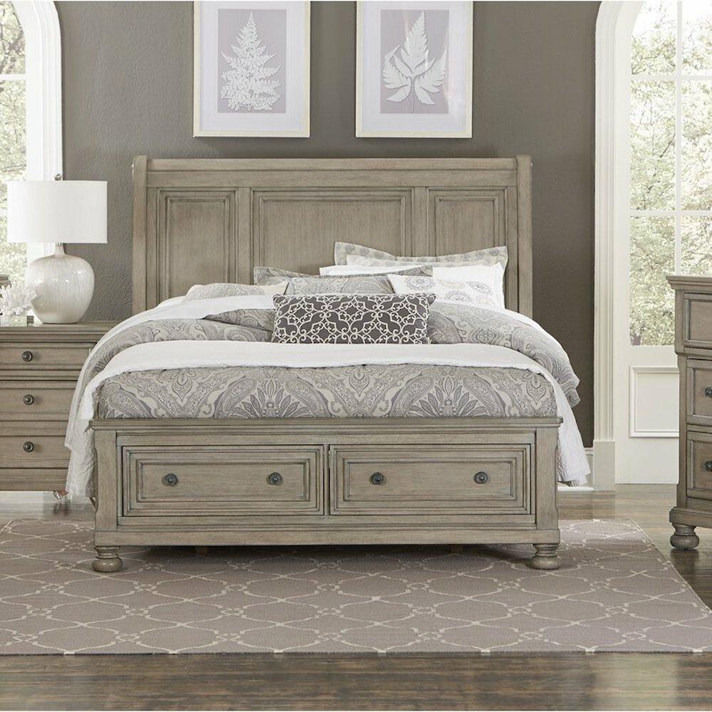 Canora Grey Leiston Low Profile Storage Sleigh Bed Wayfair
