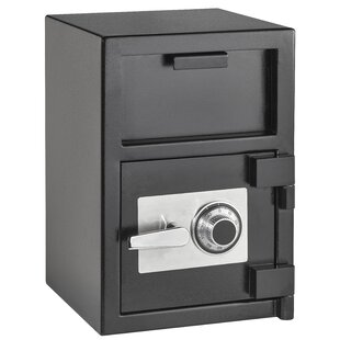 AdirOffice Hopper Loading Safe Box with Dial/Combination Lock