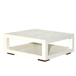 Leather Coffee Table with Magazine Rack Serge De Troyer Collection