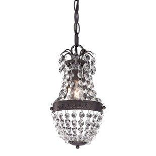Kissel 1-Light Crystal Pendant by House of Hampton