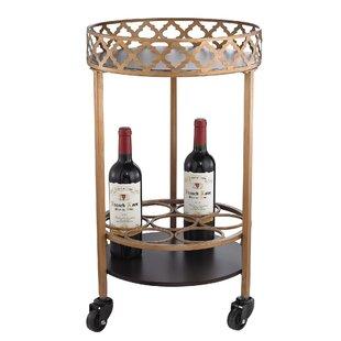 Willa Arlo Interiors Rivero Quatrefoil Bar Cart