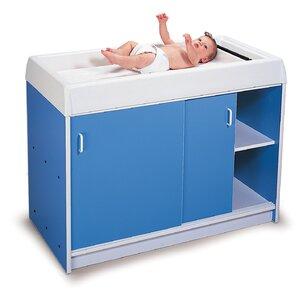 Elegant Round Edge Infant Changing Cabinet
