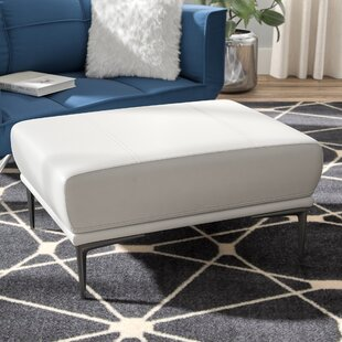 Reviews Bridgeville Leather Ottoman By Wade Logan