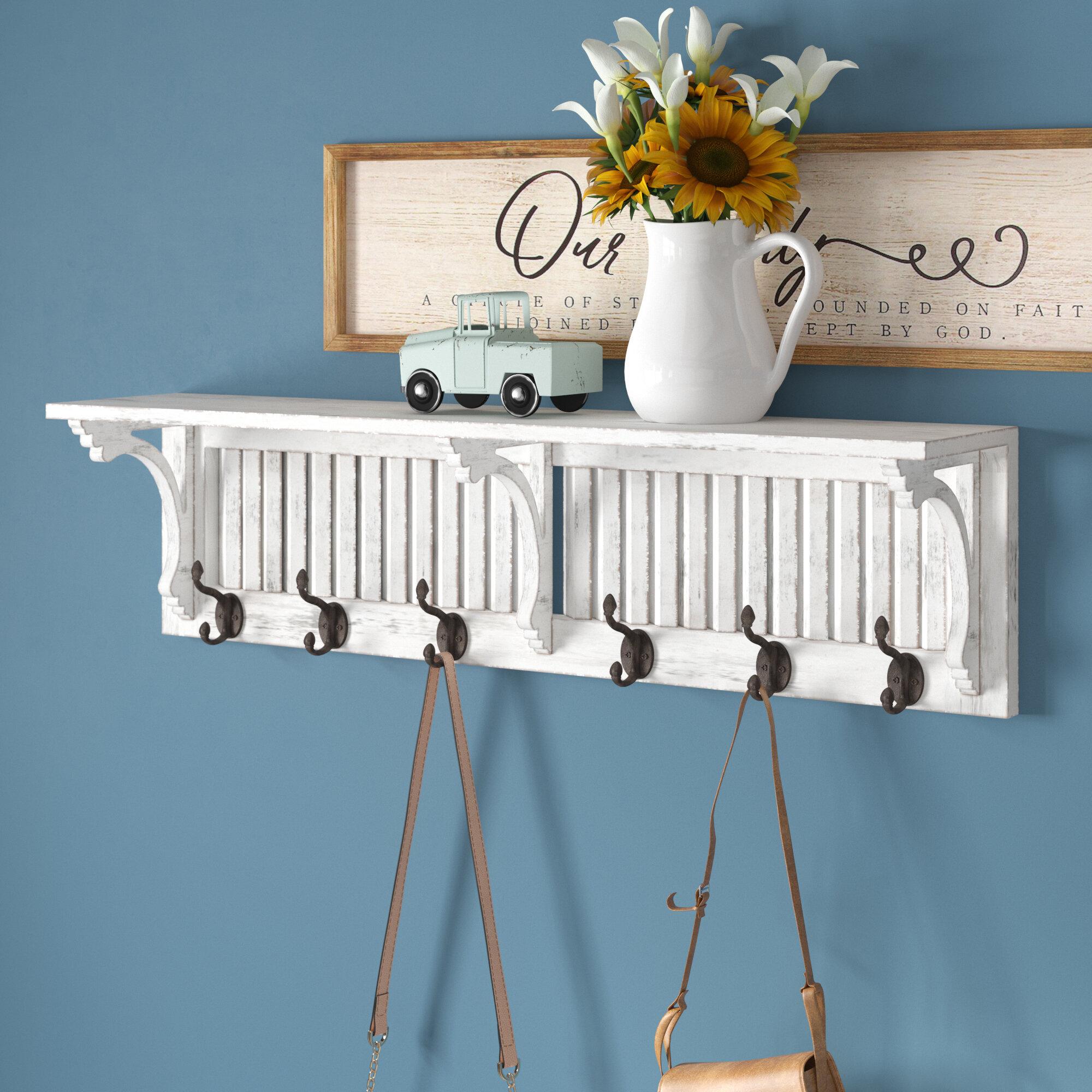 August Grove® Vassilieva Shelf Wall Mounted Coat Rack & Reviews