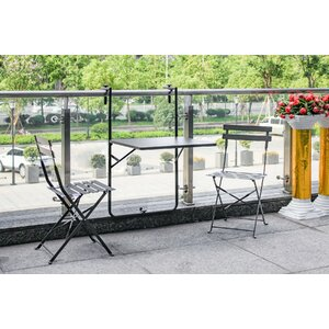 Bales Outdoor 3 Piece Folding Bistro Set