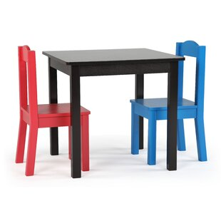 Read Reviews Thane Kids 3 Piece Writing Table and Chair Set ByZoomie Kids