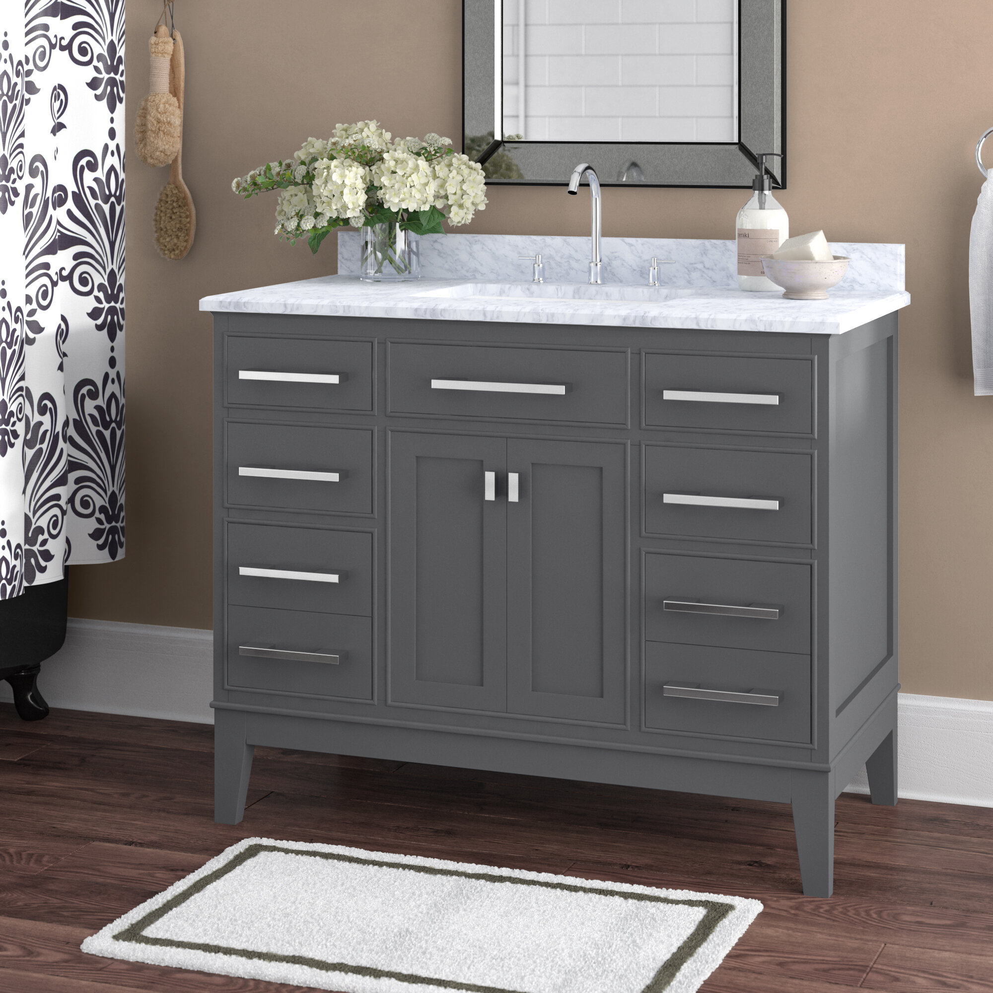 Arminta 42 Single Bathroom Vanity Set