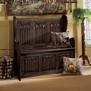 Kylemore Abbey Gothic Wood Storage Bench