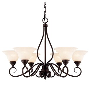 Ingles 6-Light Shaded Chandelier by Fleur De Lis Living