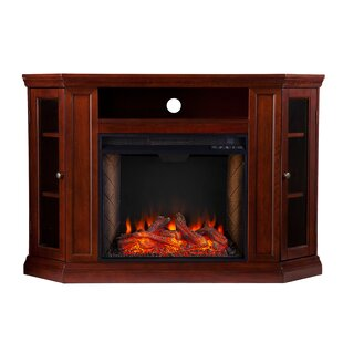 Claremont Alexa Enabled Corner Electric Fireplace By Ebern Designs