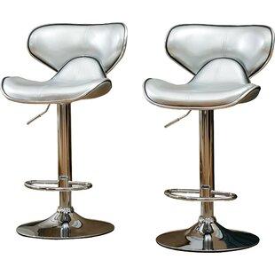 Wade Logan Harlow Adjustable Height Swivel bar stools (Set of 2)