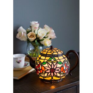 August Grove Letitia Stained Glass Tiffany Style Teapot 7