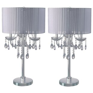 Inexpensive Benson Crystal Inspired Touch 30 Table Lamp (Set of 2) By Rosdorf Park
