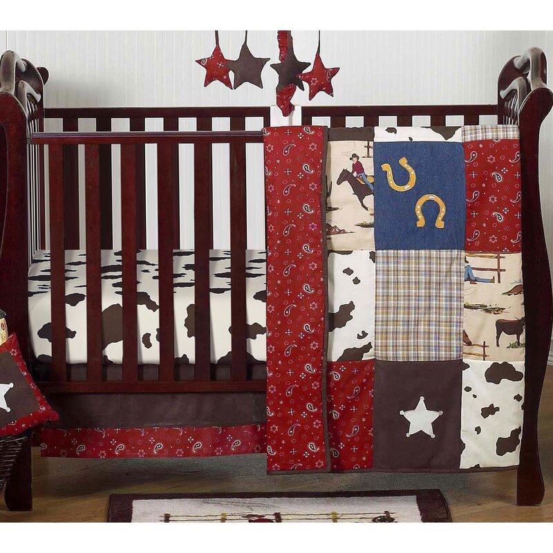 Wild West 4 Piece Crib Bedding Set