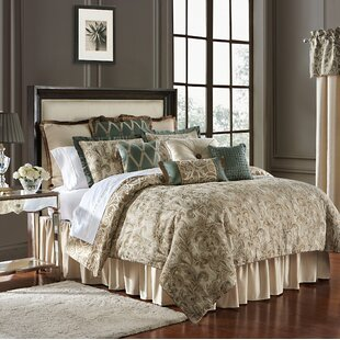 Anora 4 Piece Reversible Comforter Set by Waterford Bedding
