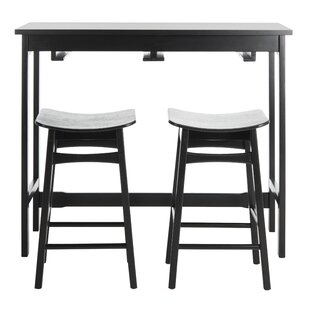 Chaska 3 Piece Pub Table Set Ebern Designs